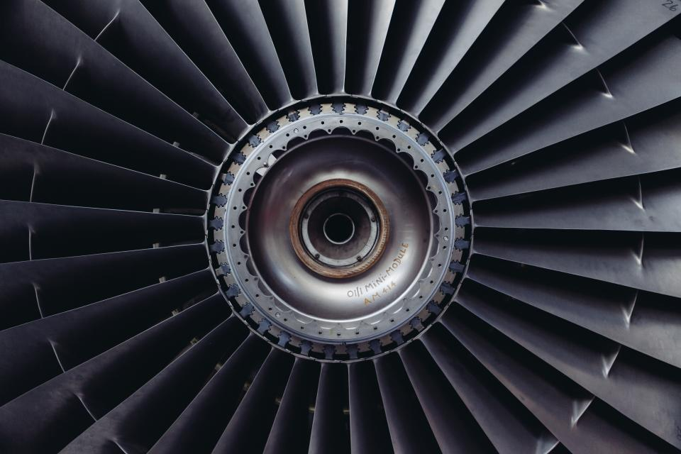 airplane turbofan engine