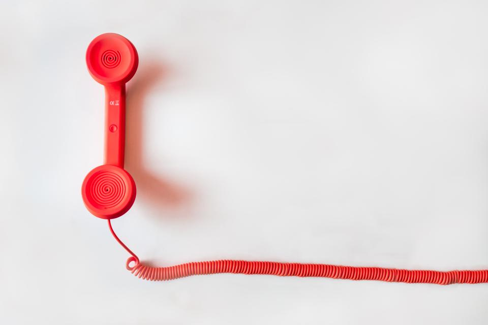 red telephone cord business