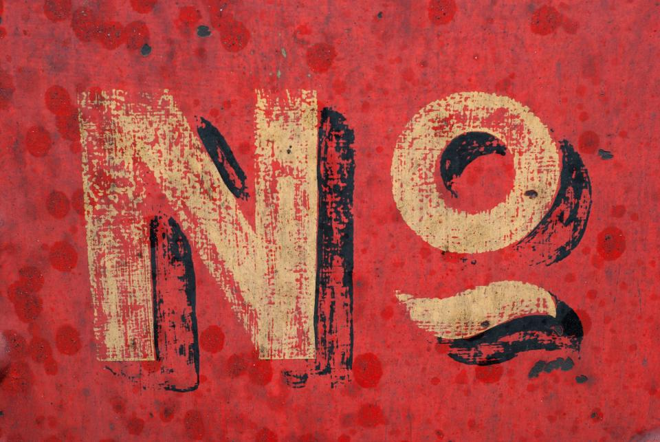 lettering text no wall red painting art