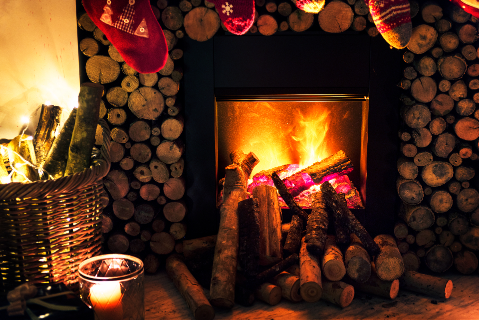 celebrate celebration chimney christmas decorate decoration festival festive fire fireplace firewoods holiday home house new year noel occasion season stack tradition warmth winter xmas yule yuletide