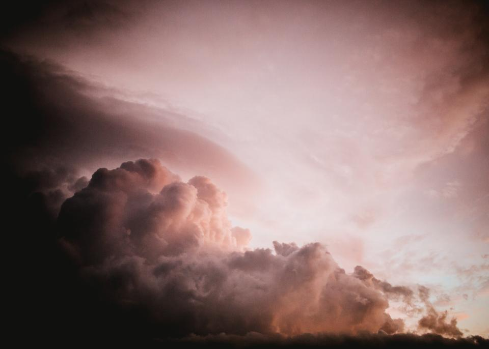 sky clouds sunset dusk nature dark storm