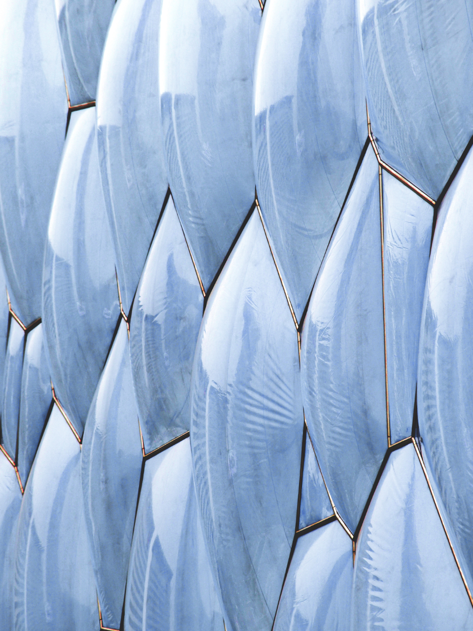 futuristic texture pattern shiny abstract plastic tech shape graphic light bubble facade surface wall
