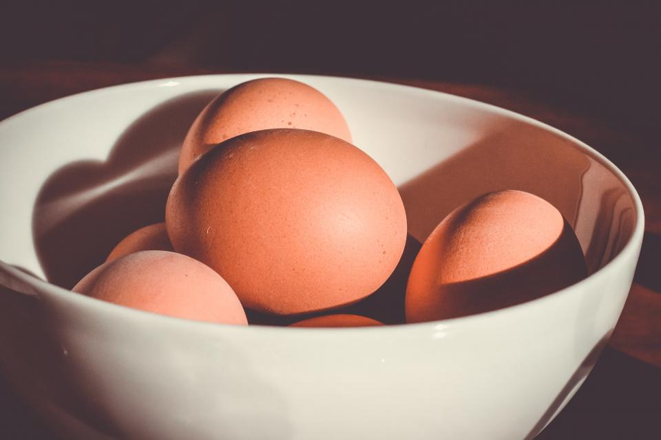 food cook eggs stack pile bowl light shadows still