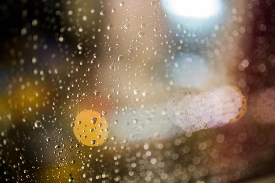 rain raining rain drops wet moisture window abstract blurry bokeh