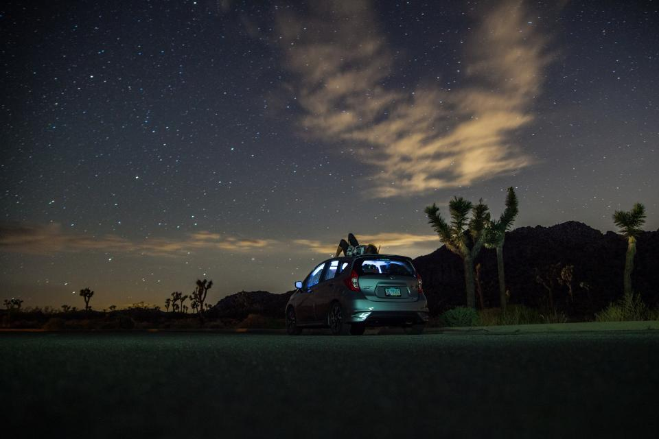 astrophotography stars clouds sky night constellation trees beauty beautiful people car transportation date trees alone