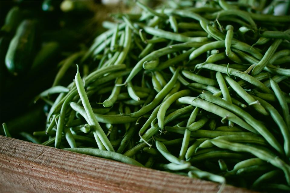 green beans vegetables food