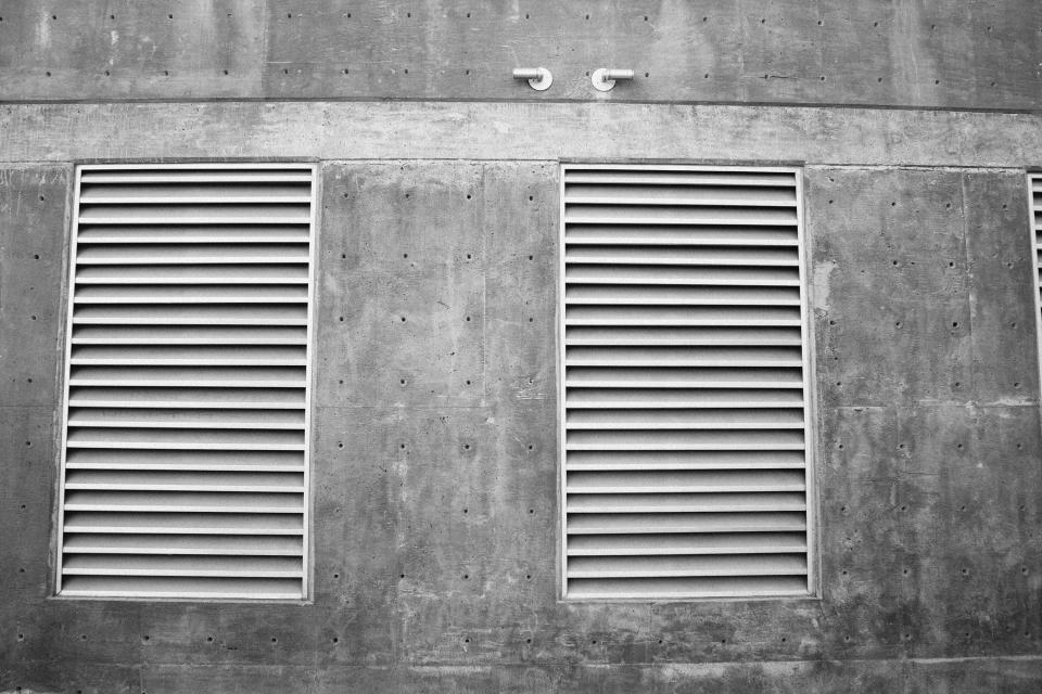 ventilator concrete wall