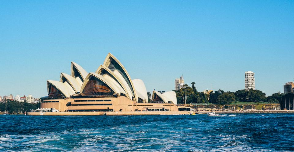 sydney opera house architecture nature water trees buildings travel wanderlust