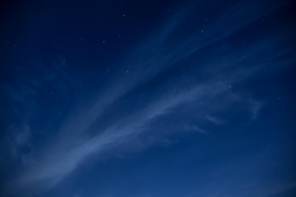 nature sky clouds night constellations stars blue white