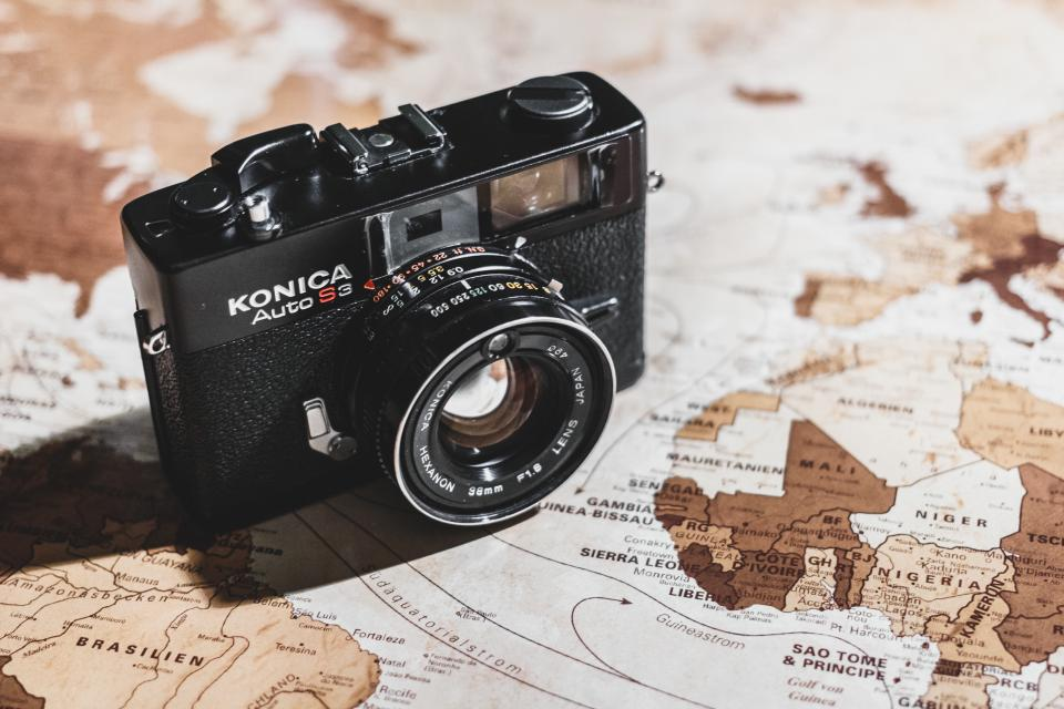 camera slr photography objects map globe world travel trip vacation