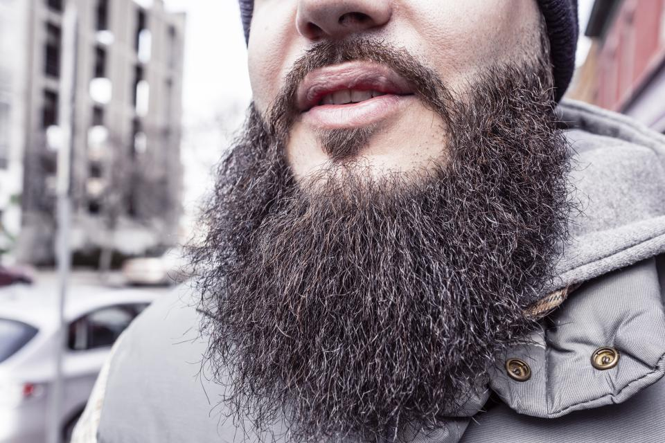 beard hair jacket face guy man