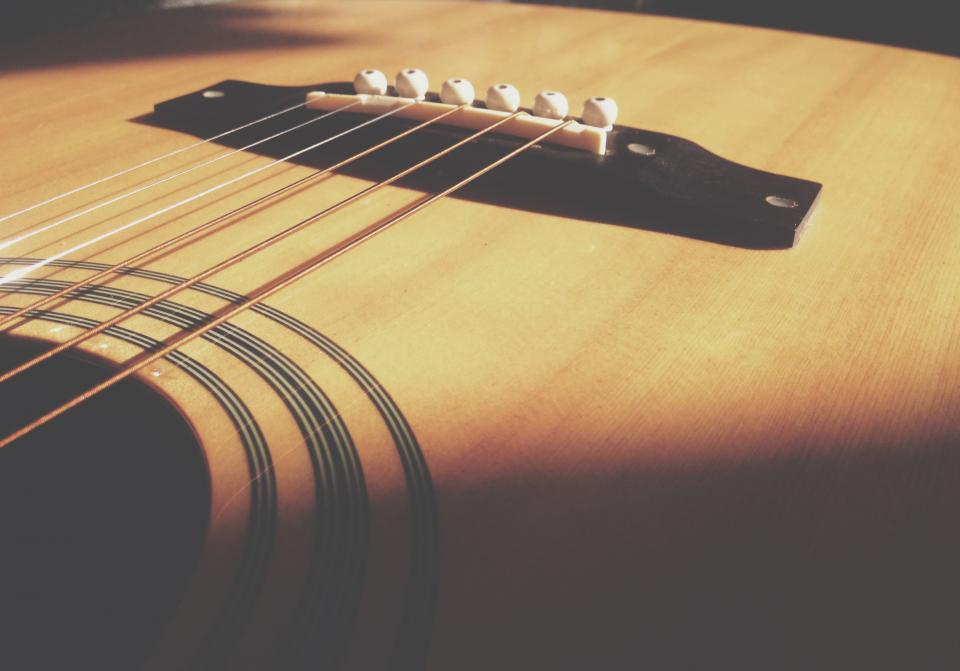 acoustic guitar strings musical instrument blur