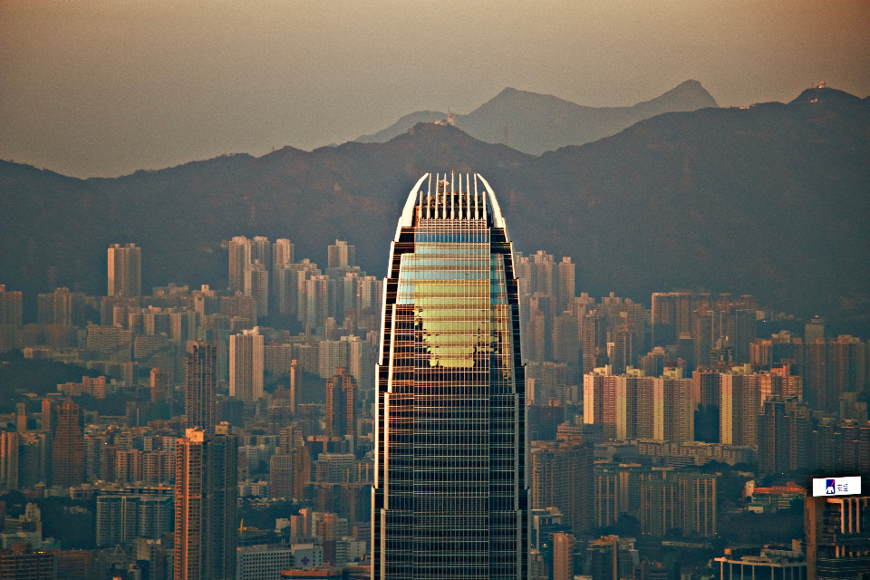 hongkong city architecture dusk sunset evening mountain landscape