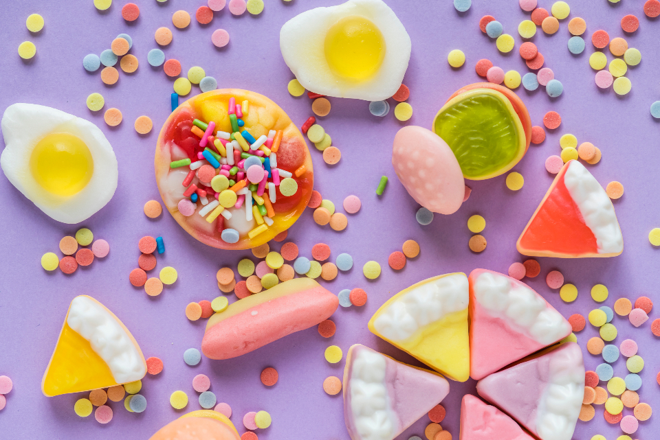 background bonbon burger burger candy cake candy celebration chewing chewy childhood closeup colorful confection confectionery confetti sprinkles delicious dessert edible egg festive flavor food fried fruit gummy isolated