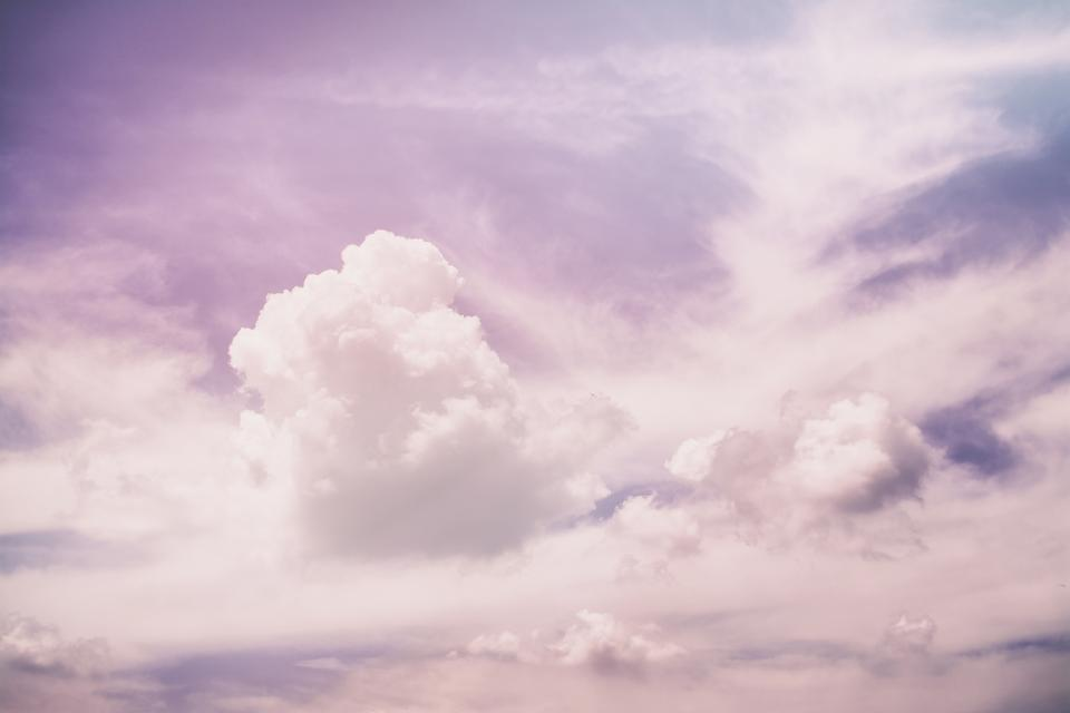 purple pink sky clouds nature