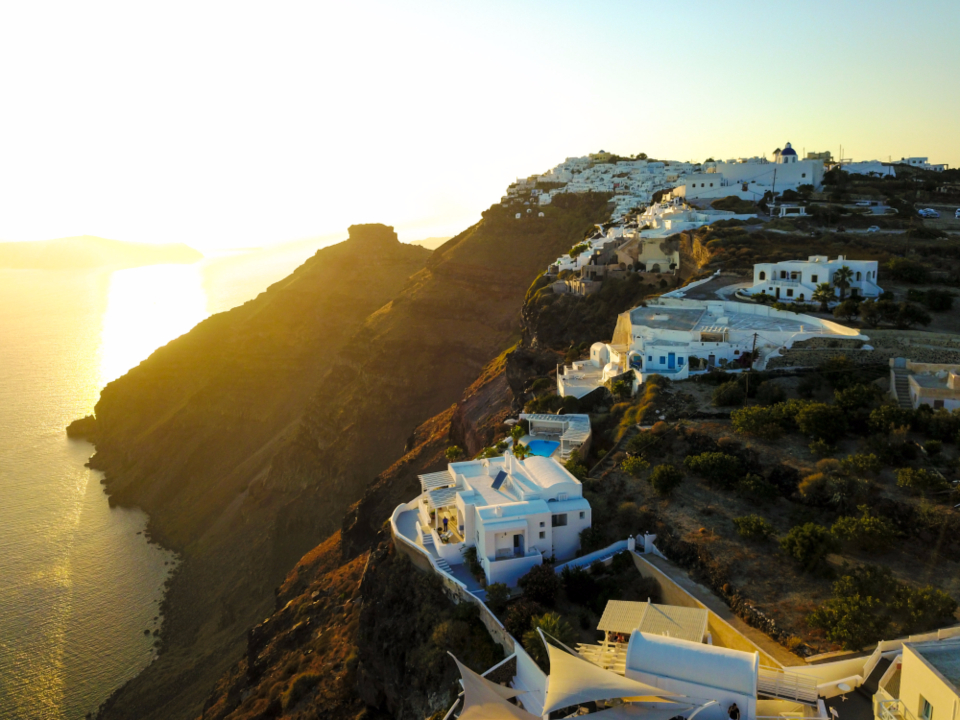 Santorini sunset greece amazing