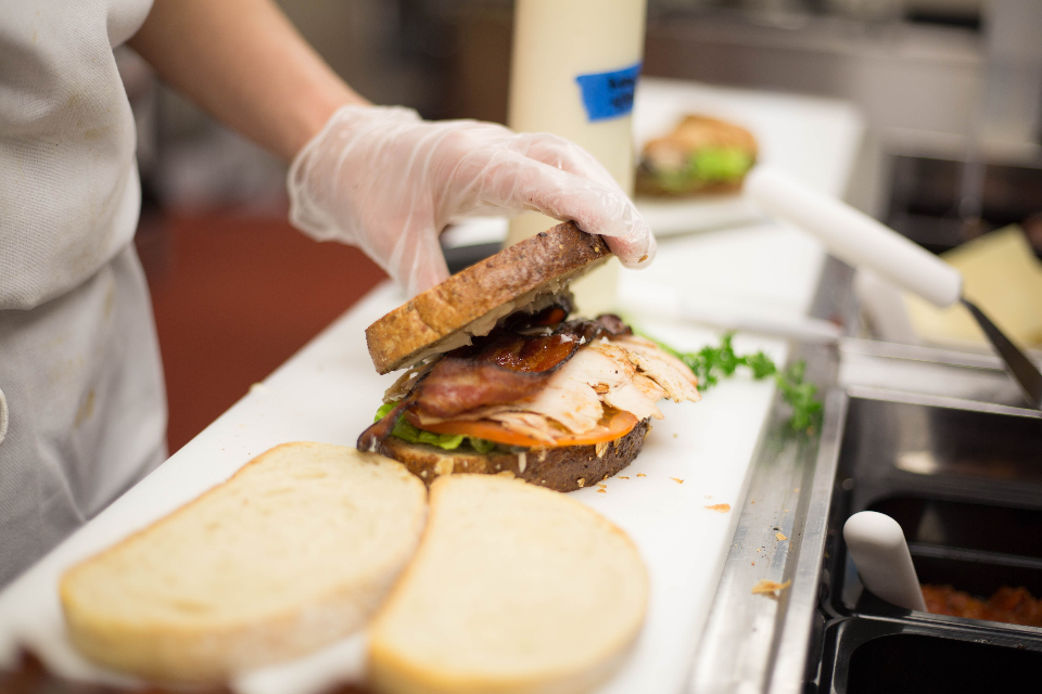 person food chef restaurant worker cook working preparation business sandwich bread lunch