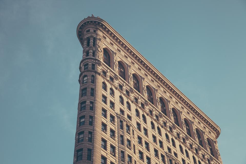 Flatiron Building New York city architecture sky