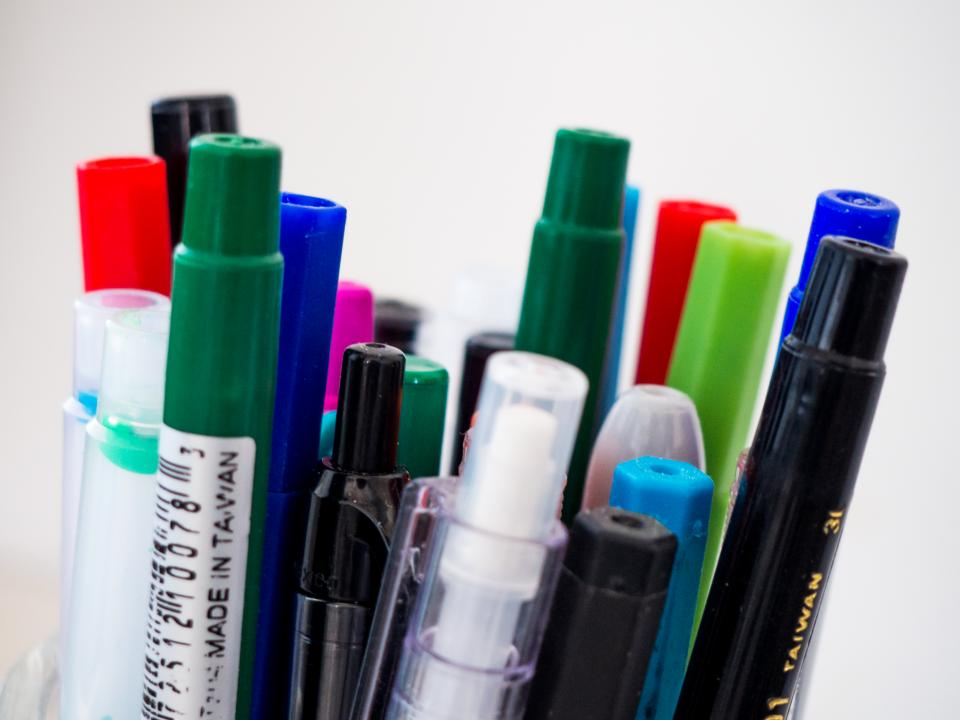 free photo of colorful  pen