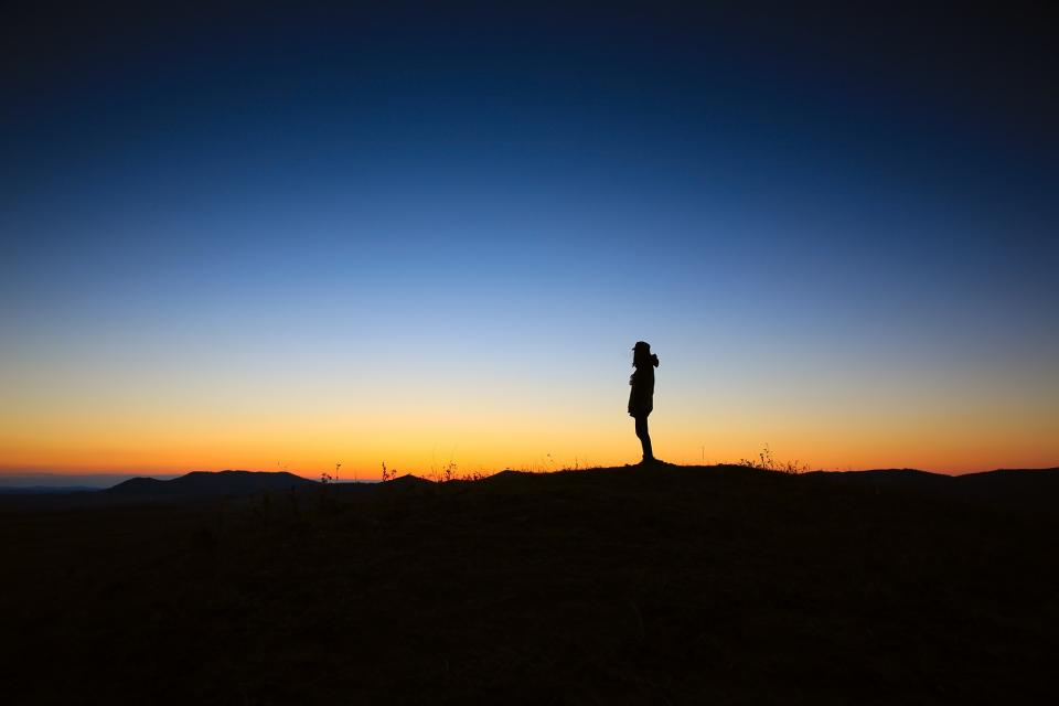 dark dusk sunset silhouette sky person shadow woman girl