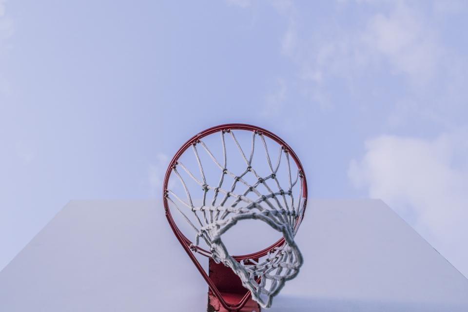 basketball net hoops backboard rim sports sky