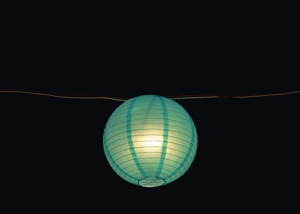 dark night blue lantern light bulb wire