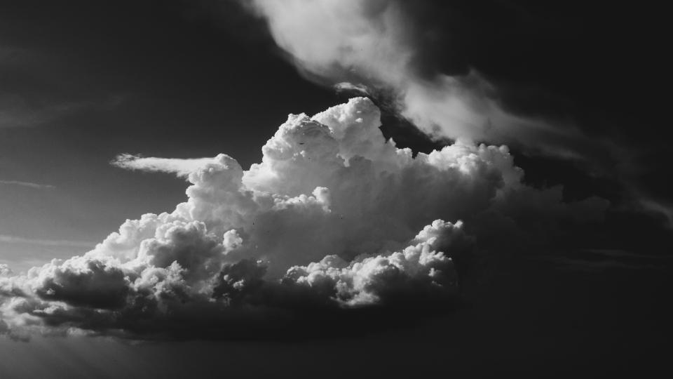 dark clouds sky nature black and white