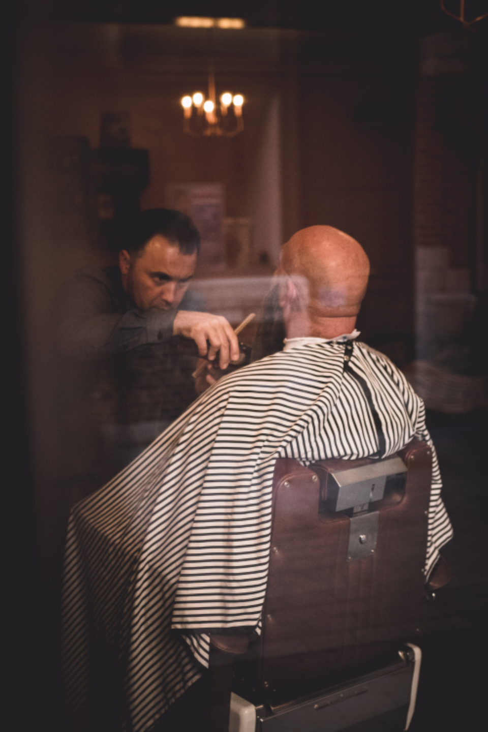 Barber Window Barbershop Old School