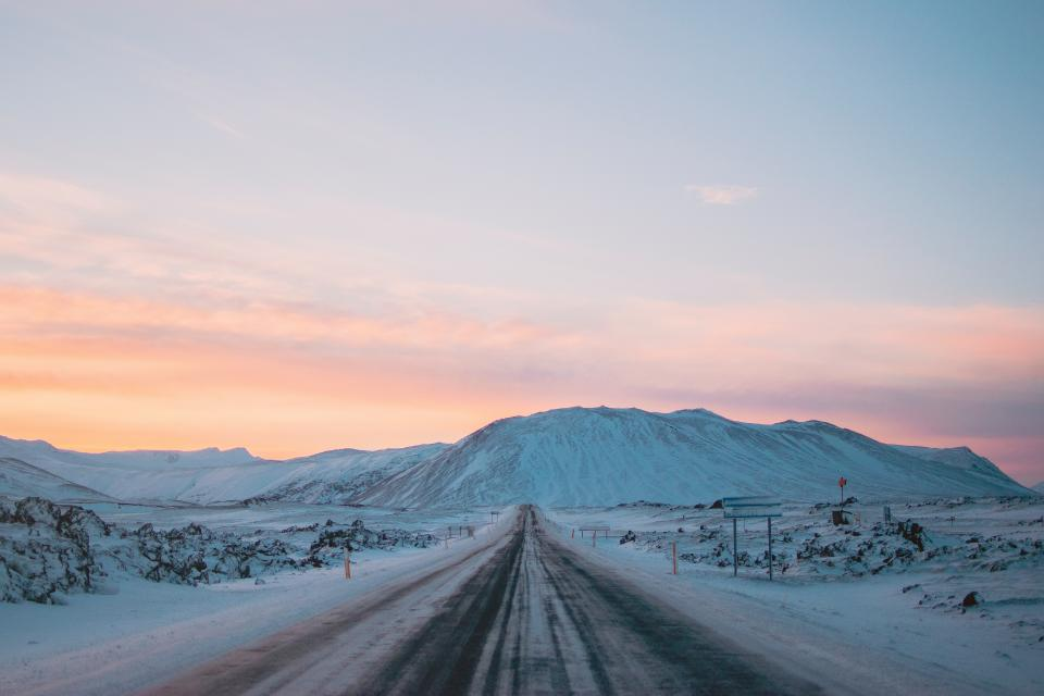 nature landscape mountain clouds sky travel adventure snow winter cold white sunset