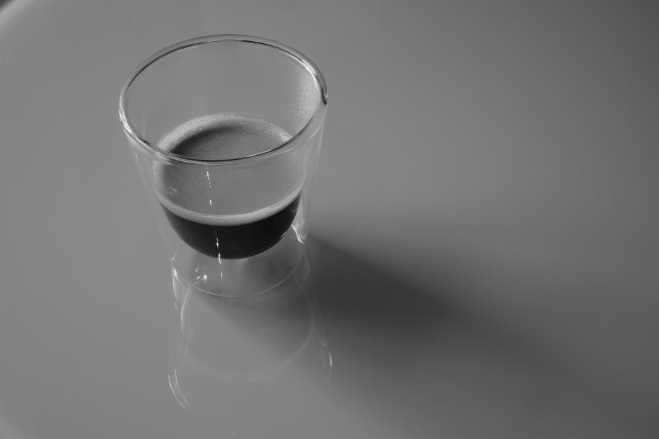 shot glass shooter espresso coffee table black and white