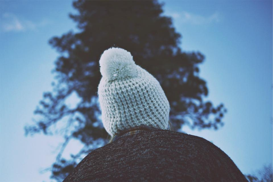 hat toque pom pom winter cold people
