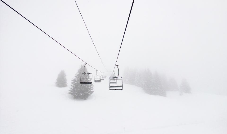 snow winter white cold weather ice nature trees leaves ride cable car