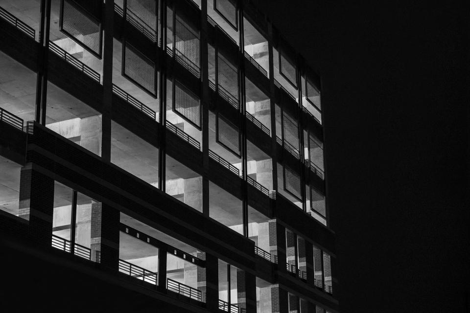 building structure concrete architecture dark night