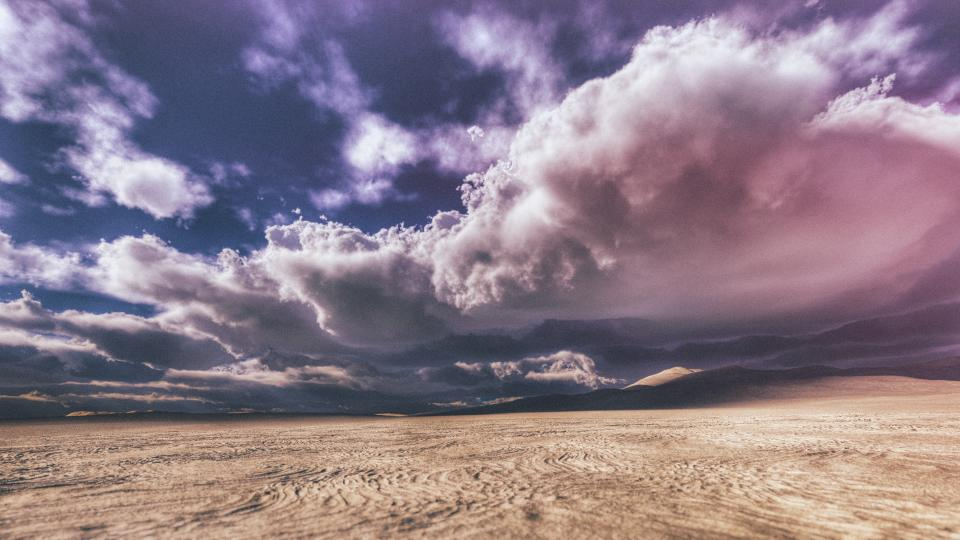 desert field clouds sky outdoor view landscape