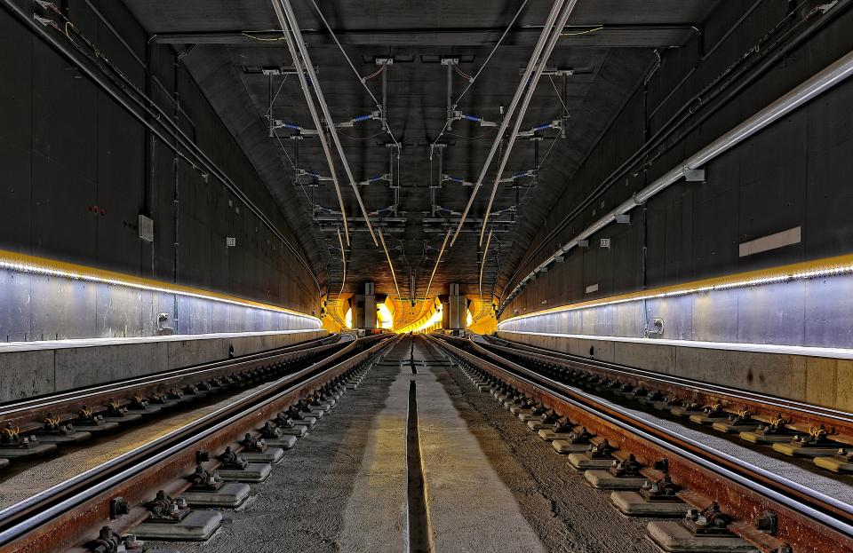 architecture building infrastructure tunnel steel metal railway tract transportation