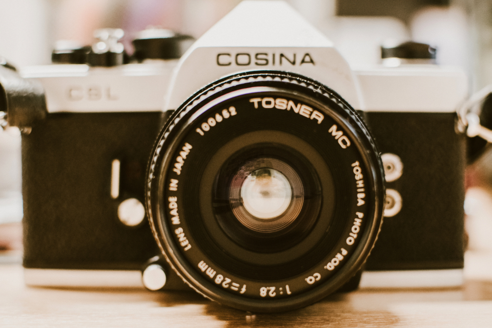cosina analogue camera dslr close up vintage photographer photography desk