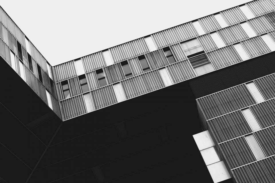 abstract building architecture design black and white