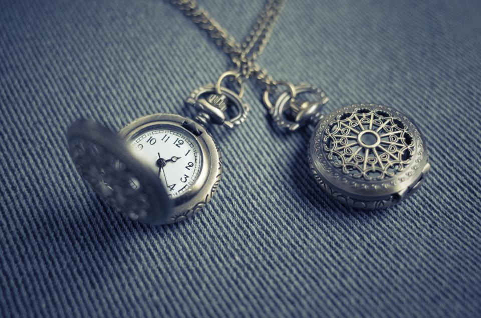 locket pendant necklace watch time