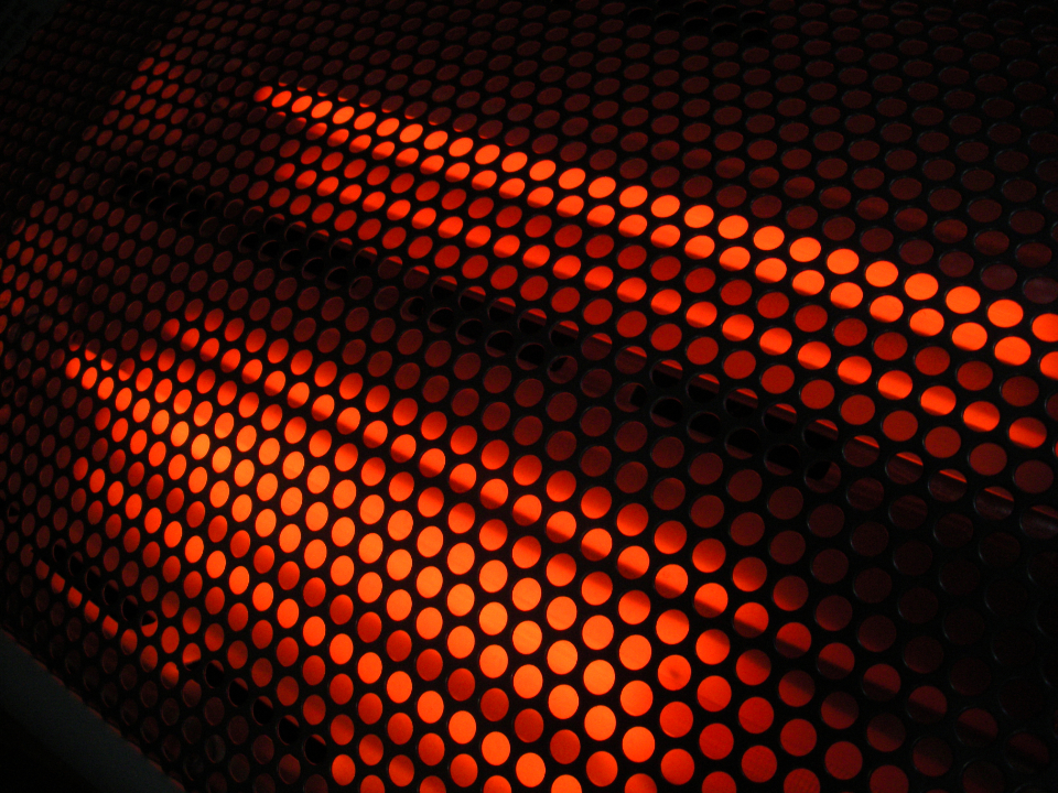 abstract glowing pattern hot industrial object circles