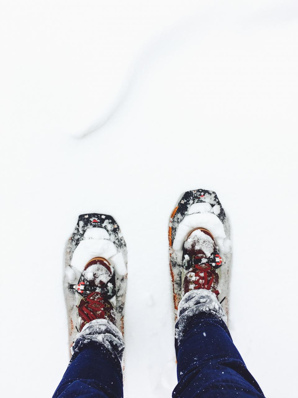 snow winter white cold weather ice people feet shoes