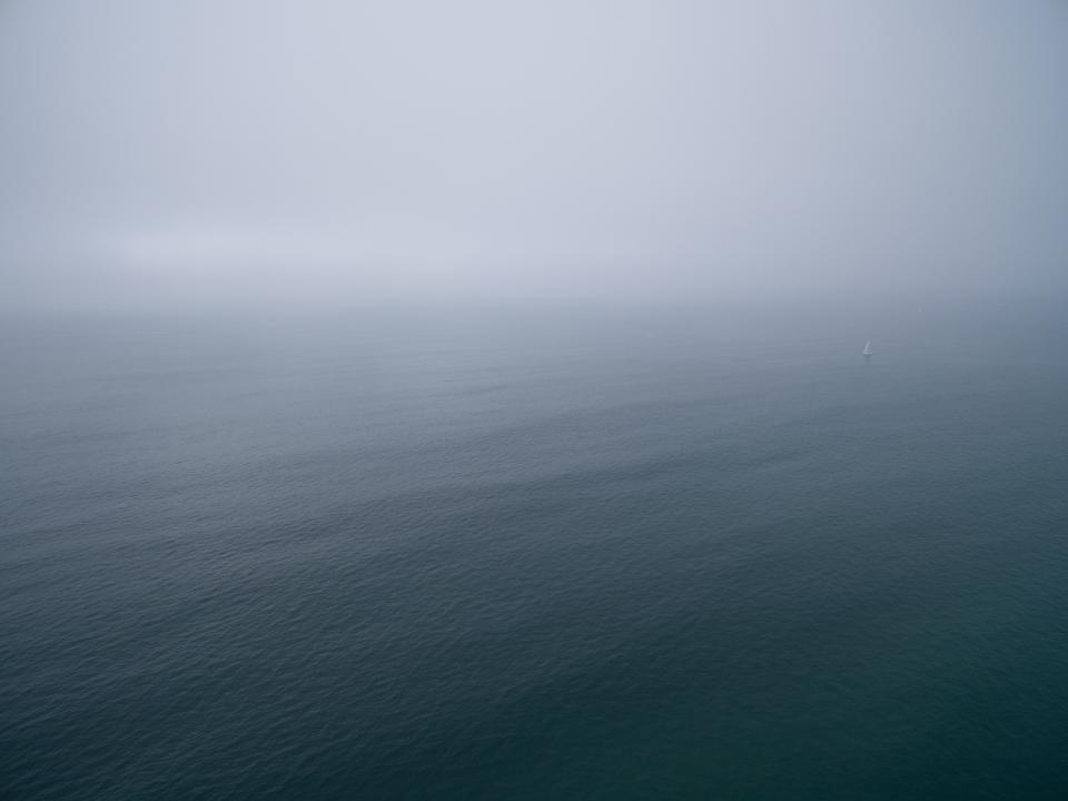 sea ocean water wave nature fog