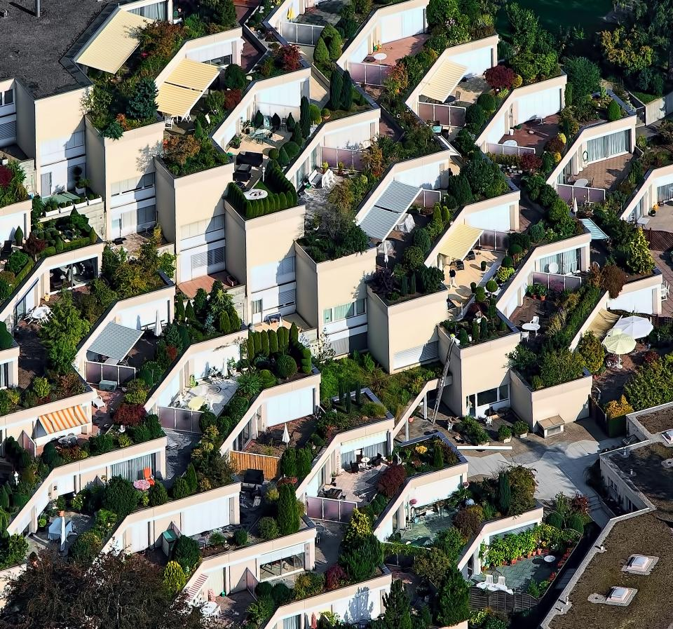 aerial view houses green plant nature outdoor village architecture structure