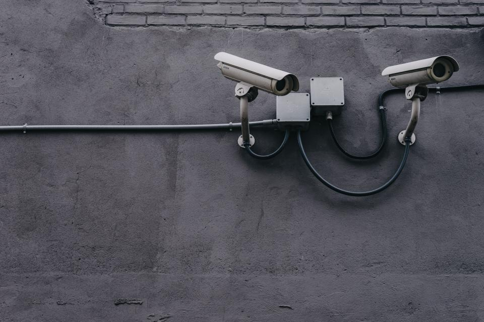 concrete wall pipe cctv camera security