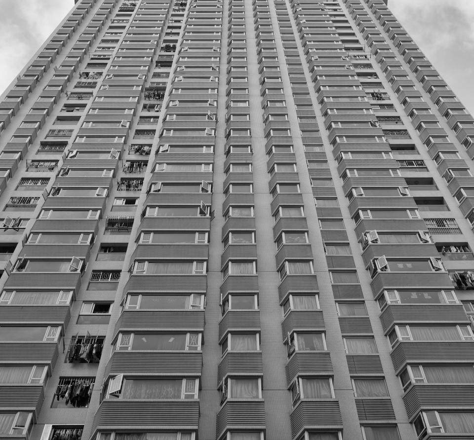 architecture building infrastructure structure establishment apartment windows condominium hotel black and white monochrome