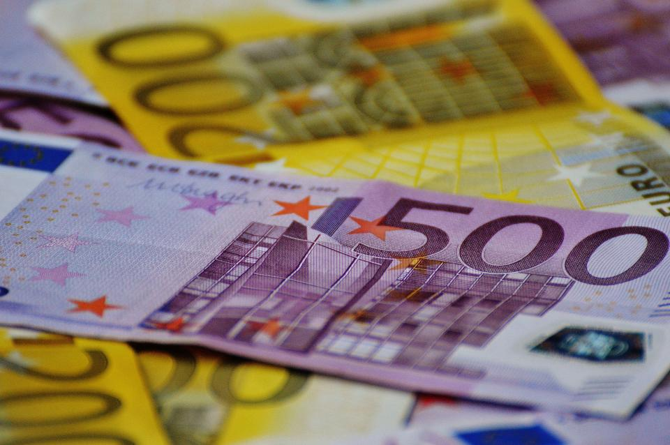 money bills notes euros finance bank note cash