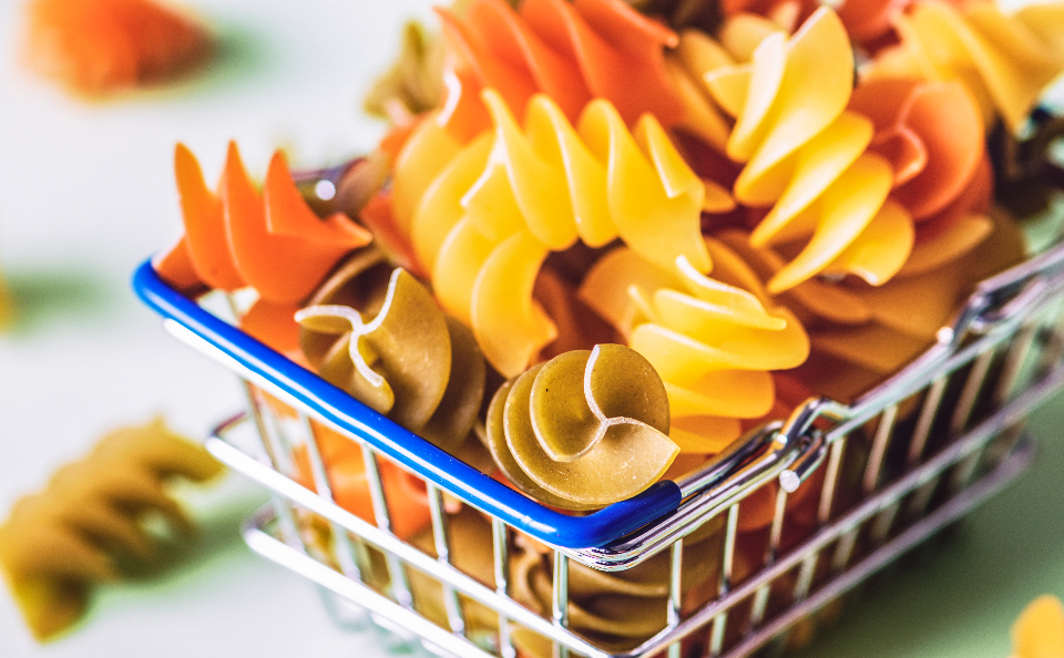 background basket classical close-up closeup colorful cooking cuisine culinary dry food fusilli gourmet groceries ingredient italian italy kitchen macaroni menu mini miniature multicolored nutrition pasta product raw re