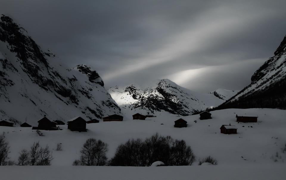 mountain clouds sky travel nature adventure trip snow white winter black and white