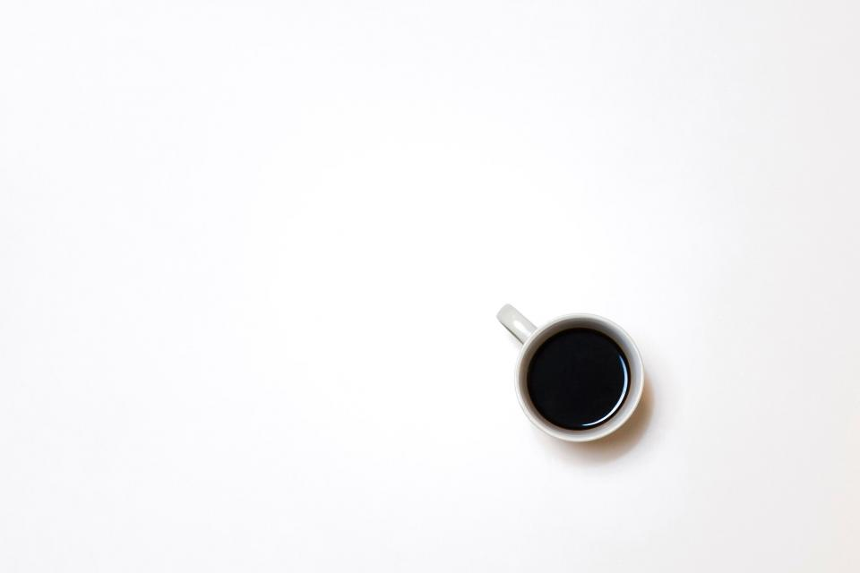 white cup mug black coffee espresso hot drink