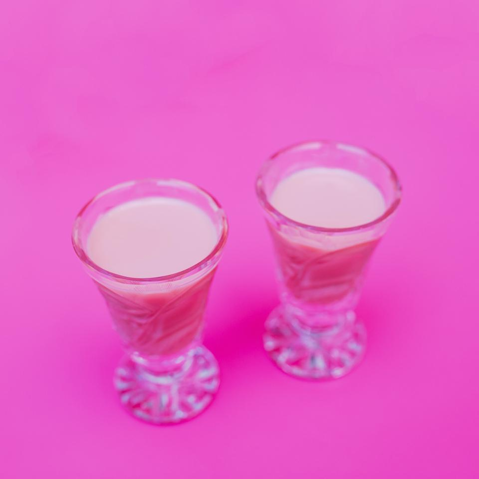pink drinks shots alcohol liquor