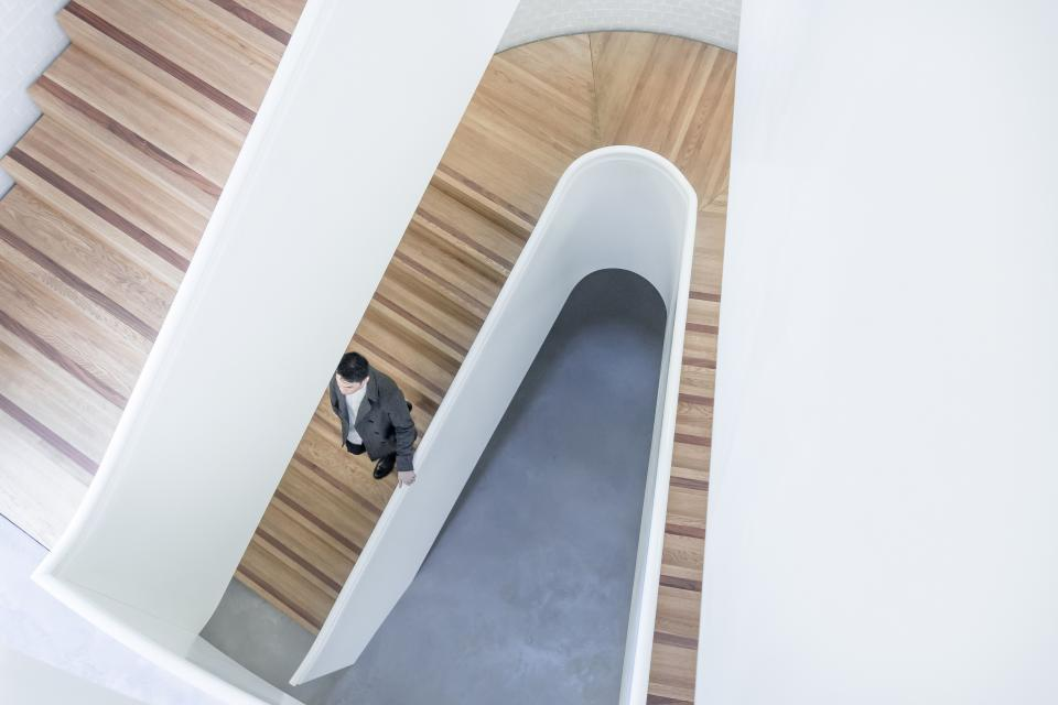 architecture building infrastructure design stairs stairway people man guy